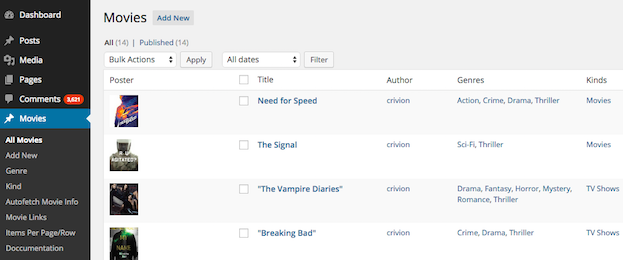 movies custom post type